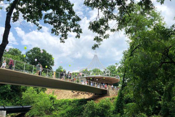Cancer Survivor's Park_Bridge and Pavilion