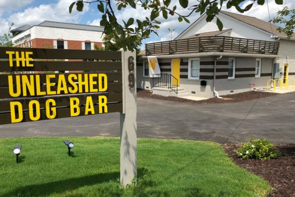 Unleashed Dog Bar_Front with Sign